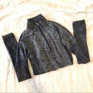 Lululemon•Quarter Zip Pullover grey